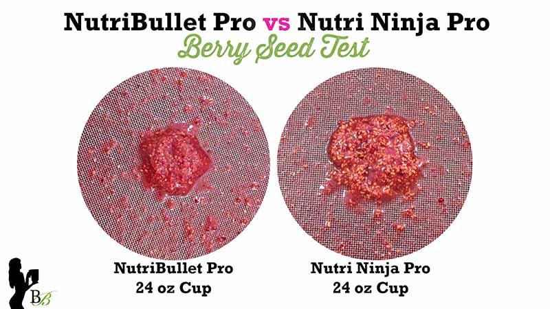 NutriBullet vs Nutri Ninja PRO Berry Seed Test
