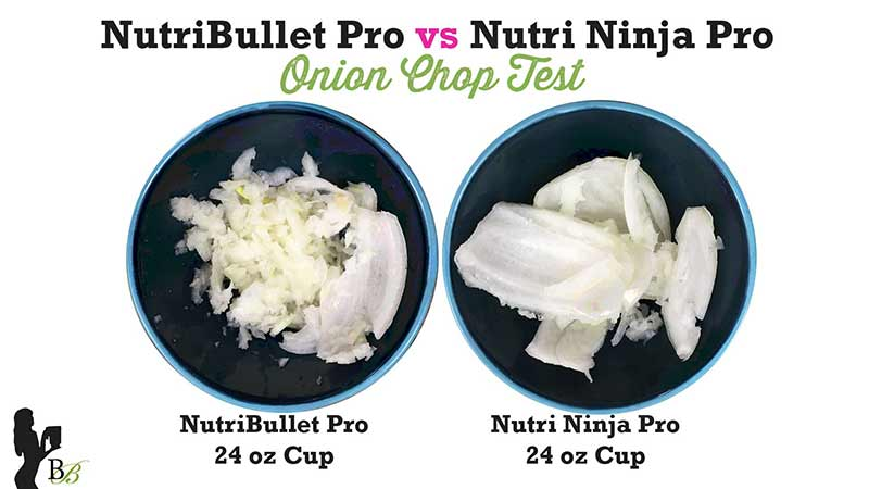 NutriBullet vs Nutri Ninja PRO Onion Chop Test