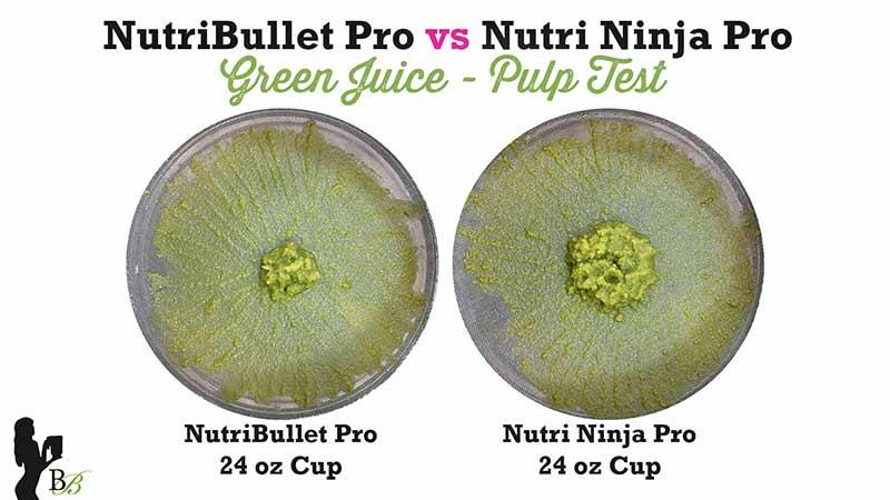 NutriBullet vs Nutri Ninja Pro Green Juice Pulp Test