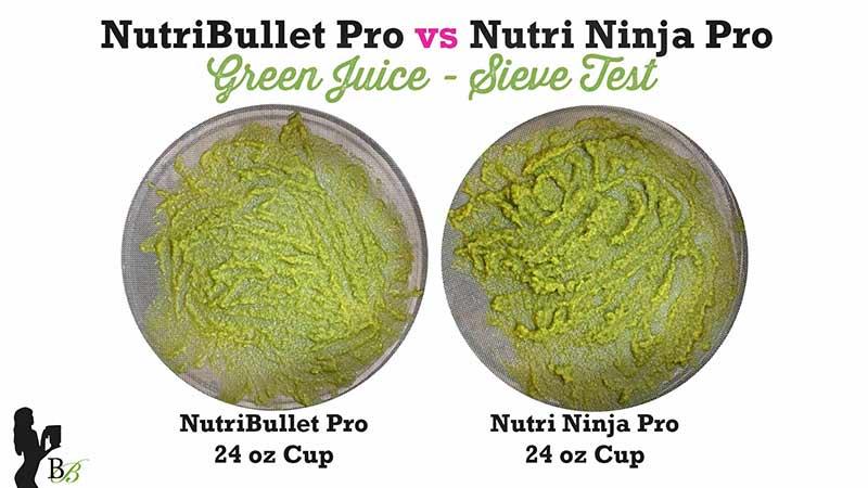 NutriBullet vs Nutri Ninja Pro Green Juice Sieve Test
