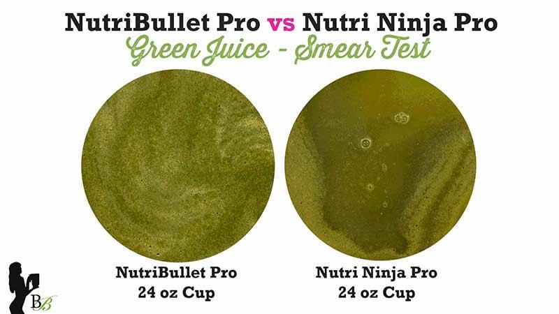 NutriBullet vs Nutri Ninja Pro Green Juice Smear Test