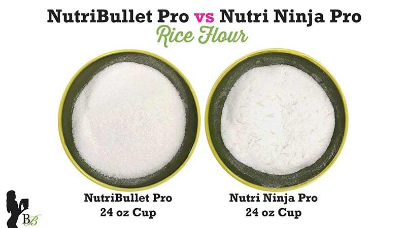 NutriBullet vs Nutri Ninja PRO Rice Flour